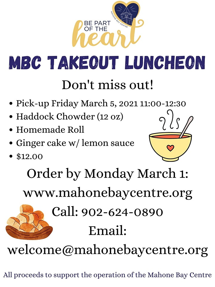 MBC Takeout Luncheon image