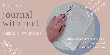 Journal with me! Free mini workshop tickets