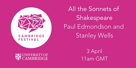 All the Sonnets of Shakespeare with Paul Edmondson  and Stanley Wells tickets