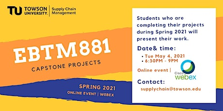 Spring 2021 Capstone Projects - Online Event tickets