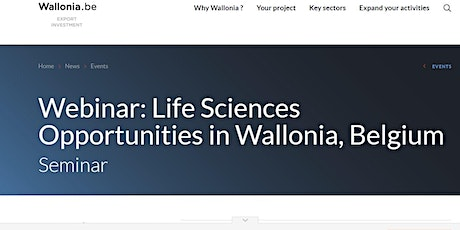 Life Sciences Opportunities in Belgium-Wallonia tickets