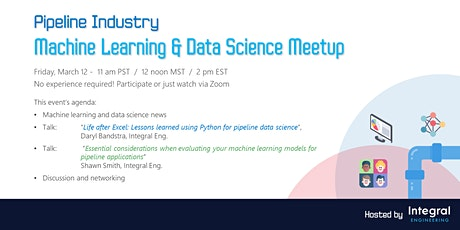 Pipeline Industry - Machine Learning & Data Science Meetup tickets