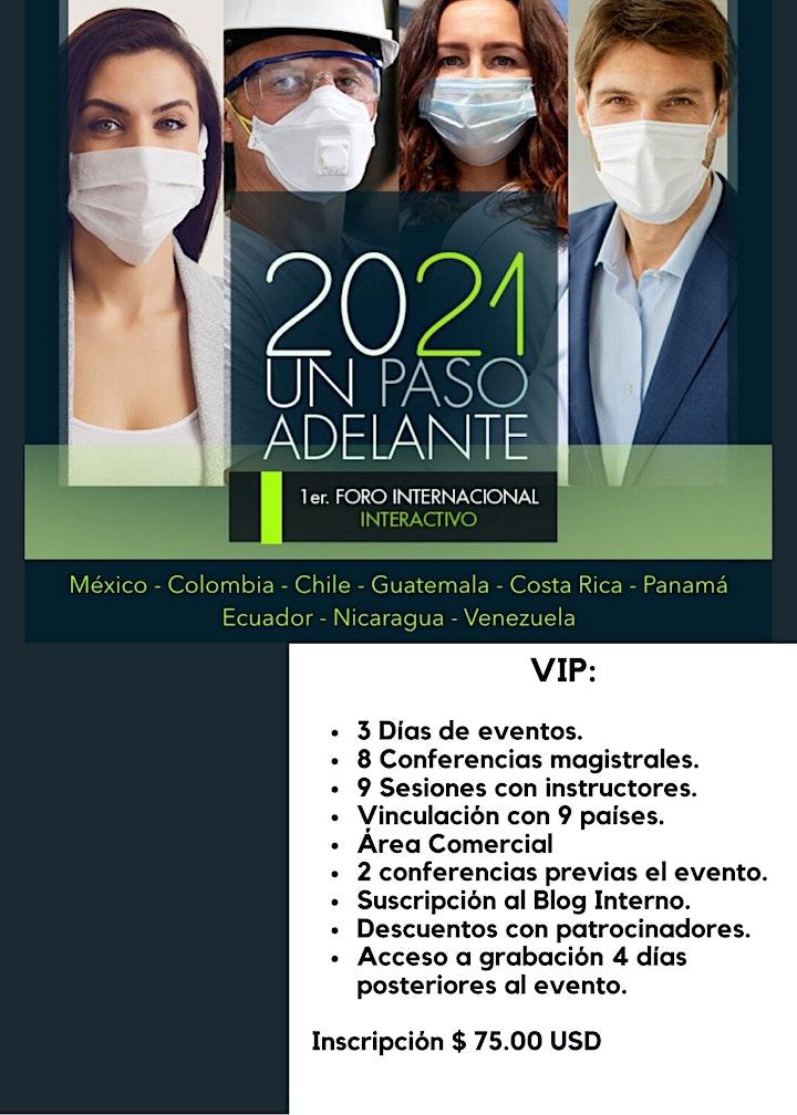 """Imagen de 1er Foro  Internacional Pase VIP  """"2021 Un Paso Adelante"""""""