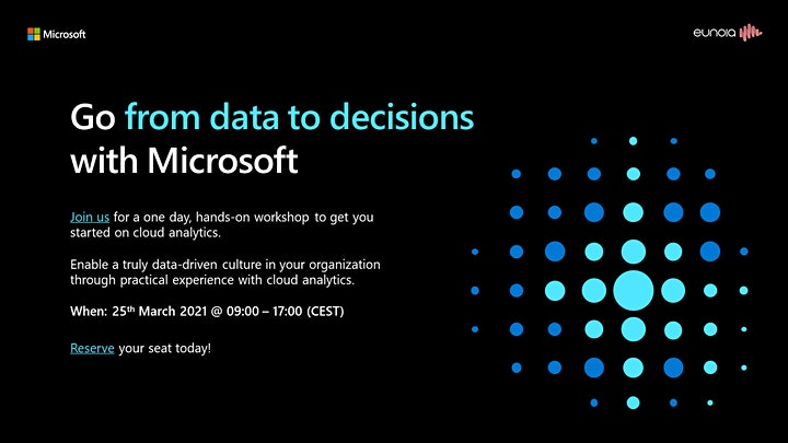 Analytics in a day  - Go from data to decisions with Microsoft image