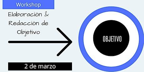 Workshop de elaboración & redacción de objetivos entradas