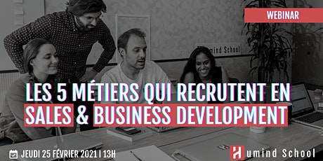Les 5 métiers qui recrutent en Sales & Business Development. tickets