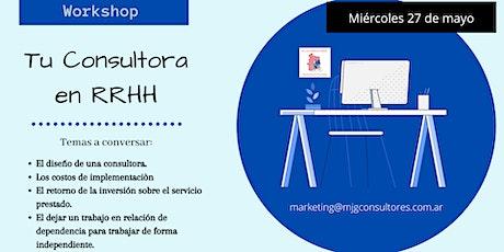Workshop: Tu Consultora en RRHH boletos