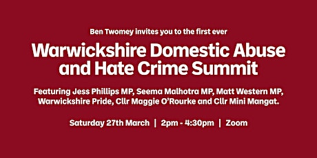 Warwickshire Domestic Abuse and Hate Crime Summit tickets