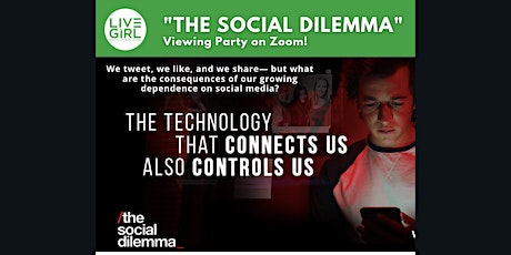"""""""The Social Dilemma"""" Viewing Party tickets"""
