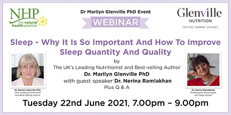 Sleep - Why It Is Important And How To Improve Sleep Quantity And Quality tickets