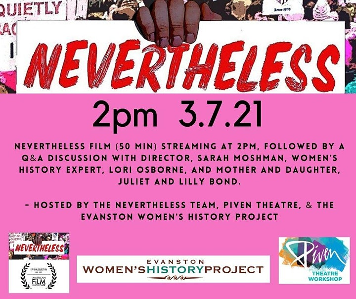 Piven Theatre & Evanston Women's History Project Present Nevertheless image