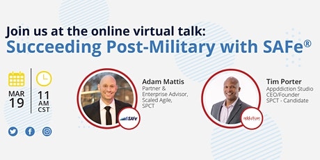 Virtual Talk: Succeeding Post-Military with SAFe® tickets