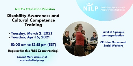 Disability Awareness and Cultural Competence Training tickets