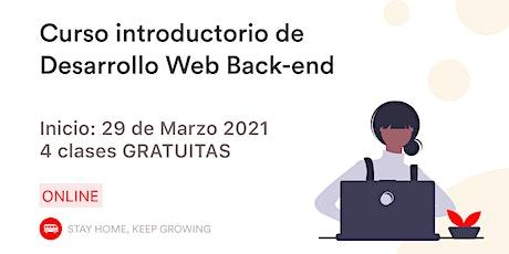 Introducción al Desarrollo Web - Back-end entradas