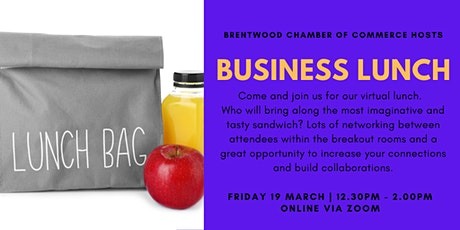 March 2021 Virtual Business Lunch Tickets