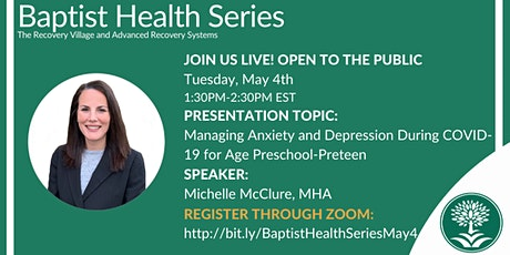 Baptist Health Webinar: Managing Anxiety and Depression During COVID-19 tickets