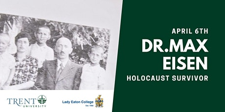 An Evening with Dr. Max Eisen: Holocaust Survivor tickets