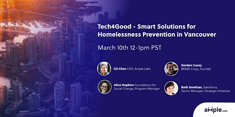 Tech4Good - Smart Solutions for Homelessness Prevention in Vancouver tickets