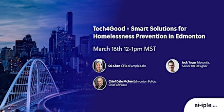 Tech4Good - Smart Solutions for Homelessness Prevention in Edmonton tickets