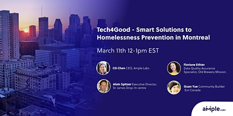 Tech4Good - Smart Solutions for Homelessness Prevention in Montreal tickets
