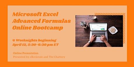 Microsoft Excel Advanced Formulas Online Bootcamp tickets