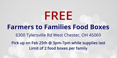 Farmers to Families Food Box Giveaway - February 25, 2021 tickets
