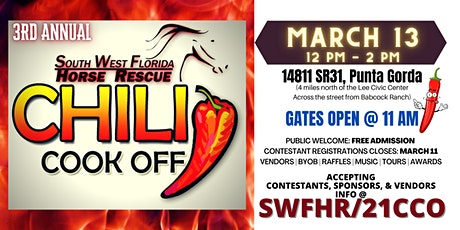 3rd ANNUAL CHILI COOK-OFF & BENEFIT tickets