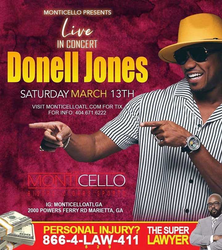 R&B SUPERSTAR DONELL JONES LIVE IN CONCERT -TICKETS SOLD AT DOOR TONIGHT image