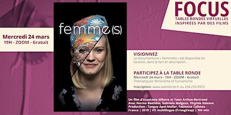 Femme(s) | FOCUS : Tables rondes virtuelles | CCFM billets