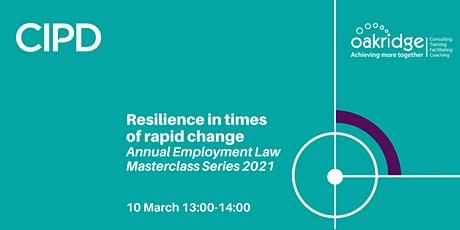 Resilience in times of rapid change | Annual employment law masterclass tickets