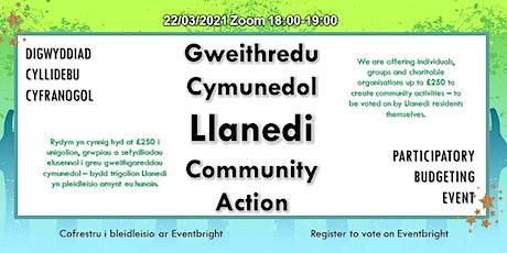 Gweithredu Cymunedol Llanedi Community Action tickets