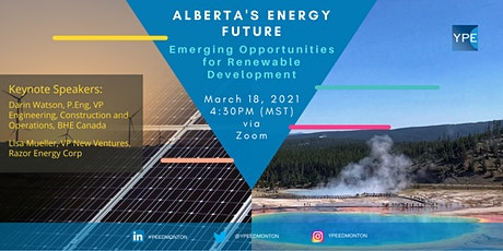 Alberta's Energy Future: Emerging Opportunities for Renewable Development tickets
