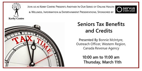 Kerby Centre Presents Senior Tax Benefits & Credits tickets
