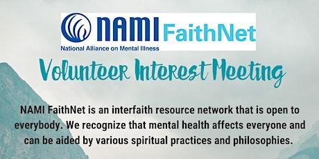NAMI FaithNet Volunteer Interest Meeting tickets