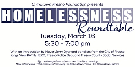 Homelessness Roundtable tickets