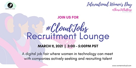 WICxIWD2021: #CloudJobs Recruitment Lounge tickets