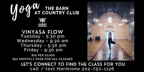 Vinyasa Yoga Flow with Hermione at The Barn tickets