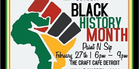 Black History Month Paint & Sip tickets
