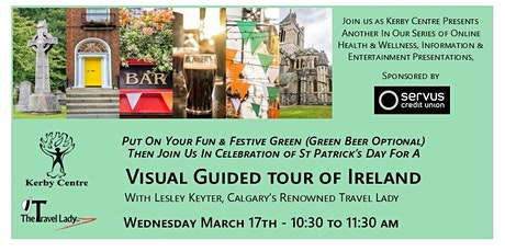 Visual Guided Tour of Ireland with The Travel Lady tickets
