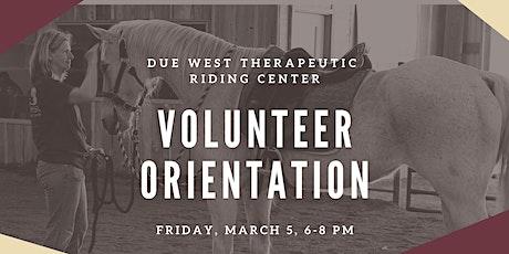 Due West TRC March Volunteer Orientation tickets