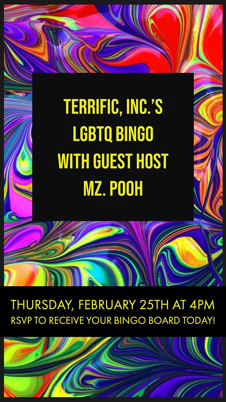 TERRIFIC, INC. 'S LGBTQ BINGO WITH SPECIAL GUEST MZ. POOH image