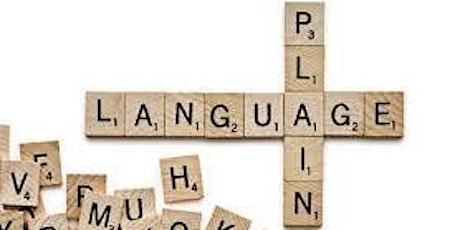 Plain Language Workshop billets