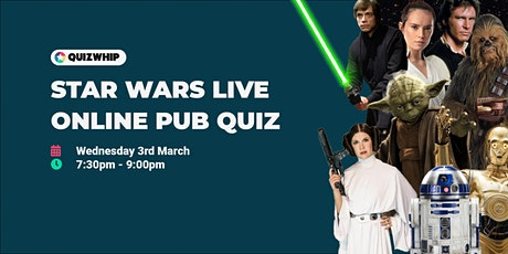 Star Wars - Live Online Pub Quiz tickets