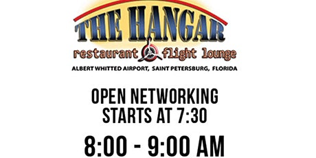 Professional Business Networking at the Hangar St Pete Breakfast! tickets