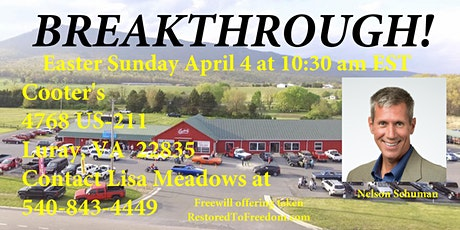 Breakthrough at Cooter's in Luray, VA tickets
