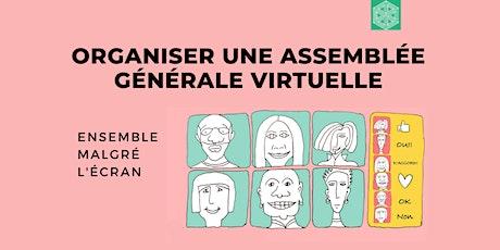 Organisation d'une assemblée générale virtuelle tickets