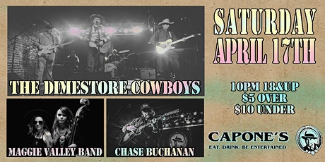 The Dimestore Cowboys, Maggie Valley band and Chase Buchanan tickets