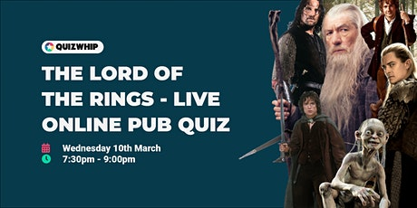 The Lord of the Rings - Live Online Pub Quiz tickets