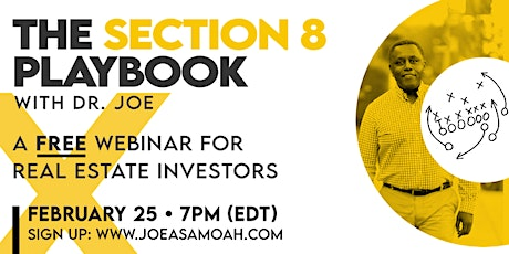 Section 8 Playbook with Dr. Joe - Free Webinar for Real Estate Investors tickets