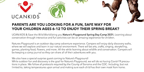 Natures Playground Spring Day Camp 2021 tickets